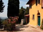 Side facade, Villa di Campolungo Agriturismo, Fiesole, Tuscany