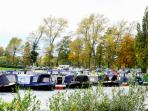 Boating lake with boats for hire