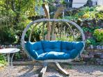The garden swing with views over the stunning countryside