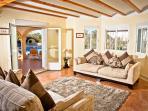 Lounge area with veiw to neya/pool area