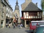 One of the many pretty streets in Dinan