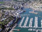 Brixham harbour by air