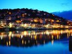 Looe river at night