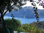 View of the Lipari island from our porch