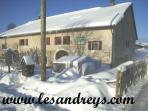 Les Andreys, gîte 'le tavaillon' la maison en hiver
