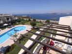 Panoramic 360 degree views of Sea, Flamingo Lake and surrounding Mountains from large roof Terrace
