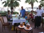 One of the many Water front restaurants with yummy Turkish Tradional Dishes