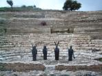 to see: Greek theater with installations in the archaeological park