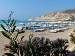 The gorgeous but quiet beach in Pissouri Bay - never busy unlike other popular beaches on the island