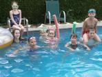 children enjoy the pool