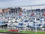 Superb marina with excellent mooring facilities, cafes & restaurants
