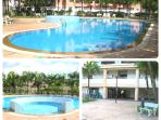Nice and clean adult & child swimming pool with benches that you can enjoy sun bathing.