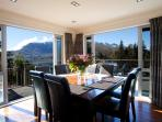Dining room opens out to large outdoor deck