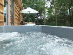 Woodcutters private hot tub
