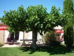 Le jardin et les terrasses du Mazet