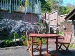 Lower courtyard garden, a sunny, sheltered spot to relax and unwind