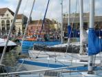 Bustling harbour