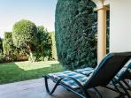 Downstairs patio & private garden - perfect relaxation & watch the sun-set!!!!