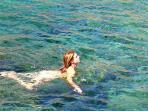 Les eaux claires de la mer de Libye