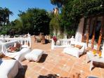 Chilled seating on the terrace or alfresco dining