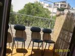 secluded tiny sunny terrace