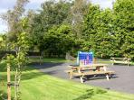 Shared picnic and children's play area