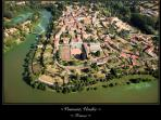 Vouvant - old fort town encircled by the River Mere