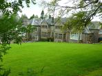 The Naseby Suite looking over the rear lawns