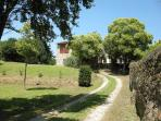 Old farmhouse with 'La casa dello Scrittore'
