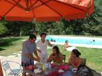 La piscine partagée avec les propriétaires