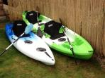 Kayaks, single seat & 2 seater