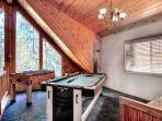 Entertainment game area and extra sleeping - New 8 foot Pool table