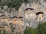 The 2000 year old Lycian Tombs at Dalyan.