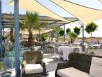 Excellent, sea front and roof top restaurants,cafes and  bars suit all taste  and pocket.  Top class