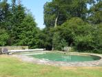 Heated pool - swim in seclusion surrounded by the forest