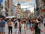 Rijeka`s main street KORZO