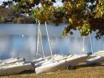 .... beside a lake with opportunities for sailing and fishing....