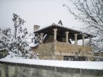 maison d'Angel sous la neige