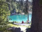 Caumasee, local swimming lake (In Summer)