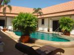 Our beautiful courtyard with all rooms opening on to the pool