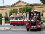 Roman Villa and Peprina sightseeing train, 2 minutes walk from 'Mdina View' Town House