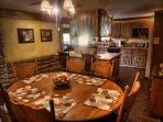 The Pioneer Suite has a full dining room and full kitchen with all the amenities.