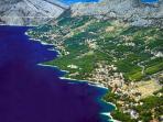 Brela coastline