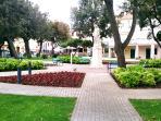 Punat's main square.