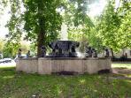 Fountain at the Barbarossaplatz nearby