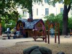 Adventure playground in near Barbarossaplatz
