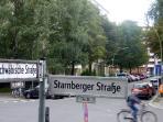 Schwäbische Straße ending as a dead end bore