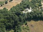 foto aerea della country house