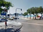 Getting to Copacabana beach | Francisco Sá Street at the corner with Atlantica Avenue