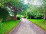 Driveway to COACHMANS COTTAGE